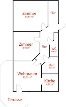 Zimmer Kirsch - Pension Reiterhof Maria Alm